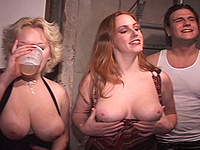 Redhead party girl gets cruel have sex.
